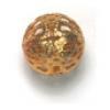 Metal Filigree Beads 14mm Gold